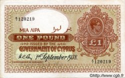 1 Pound CHYPRE  1938 P.24 TTB+