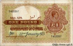 1 Pound CHYPRE  1943 P.24 TB+