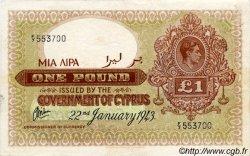 1 Pound CHYPRE  1943 P.24 TTB+