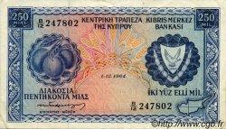 250 Mils CHYPRE  1964 P.41a TTB