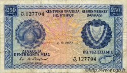 250 Mils CHYPRE  1971 P.41a pr.TB