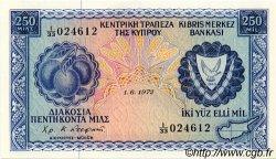 250 Mils CHYPRE  1972 P.41b NEUF