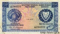 250 Mils CHYPRE  1972 P.41b TB+
