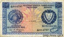 250 Mils CHYPRE  1973 P.41b TB+