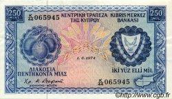 250 Mils CHYPRE  1974 P.41b TTB+