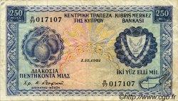 250 Mils CHYPRE  1981 P.41c pr.TTB