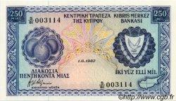 250 Mils CHYPRE  1982 P.41c SPL+