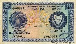 250 Mils CHYPRE  1982 P.41c TTB