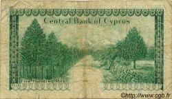 500 Mils CHYPRE  1976 P.42b B