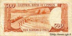 500 Mils CHYPRE  1982 P.45 TTB