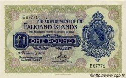1 Pound ÎLES FALKLAND  1974 P.08b pr.NEUF