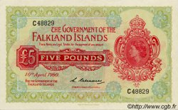5 Pounds ÎLES FALKLAND  1960 P.09a NEUF