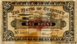1 Pound GUERNESEY  1943 P.33 AB