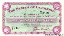 10 Shillings GUERNESEY  1966 P.42c pr.NEUF