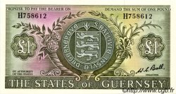 1 Pound GUERNESEY  1969 P.45c pr.NEUF