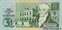 1 Pound GUERNESEY  1980 P.48b TTB
