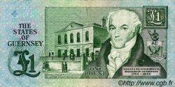 1 Pound GUERNESEY  1991 P.52b TTB+