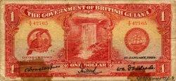 1 Dollar GUYANA  1929 P.06 B+