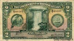 2 Dollars GUYANA  1942 P.13c TB+