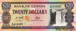 20 Dollars GUYANA  1989 P.27 pr.NEUF