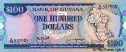 100 Dollars GUYANA  1989 P.28 NEUF