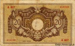 20 Somali ITALIE  1950 P.14a TB