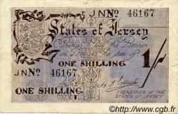 1 Shilling JERSEY  1941 P.02a TTB