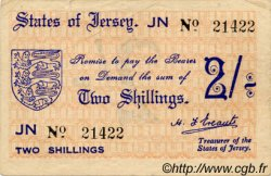 2 Shillings JERSEY  1941 P.04a TTB
