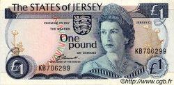 1 Pound JERSEY  1976 P.11a pr.SUP