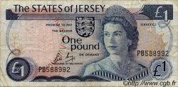1 Pound JERSEY  1976 P.11b TB