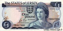 1 Pound JERSEY  1976 P.11b SPL