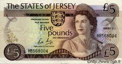 5 Pounds JERSEY  1976 P.12b TTB+