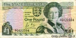 1 Pound JERSEY  1989 P.15a TB