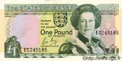 1 Pound JERSEY  1989 P.15a SUP