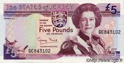 5 Pounds JERSEY  1993 P.21a SUP+