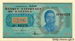 20 Francs KATANGA  1960 P.06a SUP+