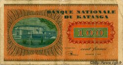100 Francs KATANGA  1960 P.08a B+