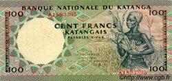 100 Francs KATANGA  1962 P.12a TTB+