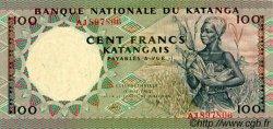 100 Francs KATANGA  1962 P.12a NEUF