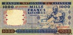 1000 Francs KATANGA  1962 P.14a TTB