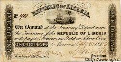 1 Dollar LIBERIA  1863 P.07c TB+