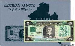 5 Dollars avec cartonnage LIBERIA  1989 P.19 NEUF
