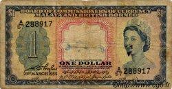 1 Dollar MALAISIE et BORNEO  1953 P.01a B