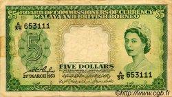 5 Dollars MALAISIE et BORNEO  1953 P.02a pr.TTB