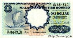 1 Dollar MALAISIE et BORNEO  1959 P.08a SUP
