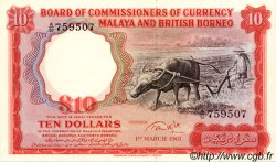 10 Dollars MALAISIE et BORNEO  1961 P.09 pr.NEUF