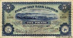 5 Pounds ÎLE DE MAN  1927 P.05 TTB