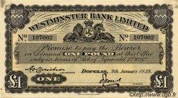 1 Pound ÎLE DE MAN  1929 P.23a SUP+