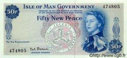 50 New Pence ÎLE DE MAN  1969 P.27 NEUF