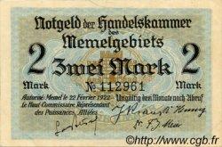 2 Mark MEMEL  1922 P.03a SUP+